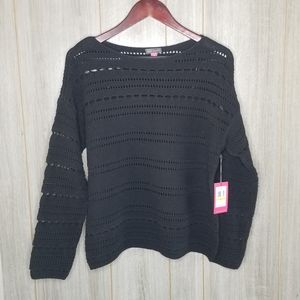 NWT Vince Camuto Black Day Break Sweater